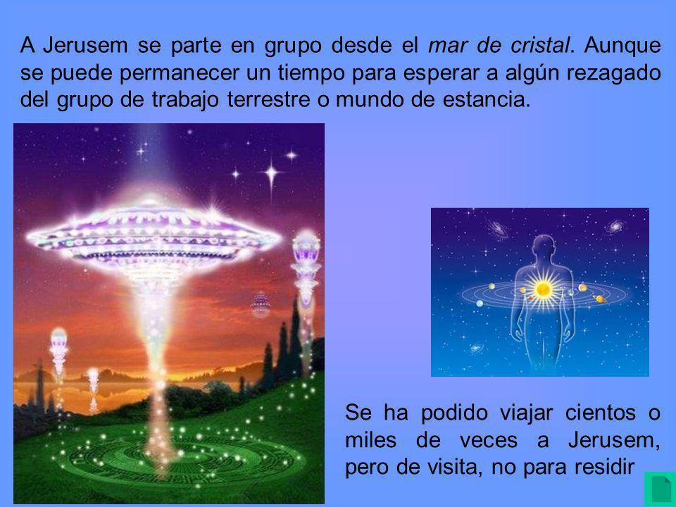 A Jerusem se parte en grupo desde el mar de cristal.