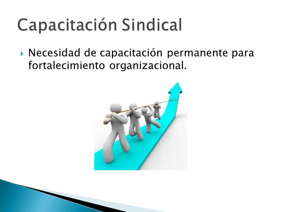 Necesidad de capacitación permanente para fortalecimiento organizacional.