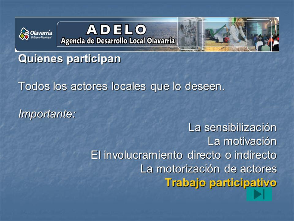 c) Propender al desarrollo local A partir de un Plan estratégico.