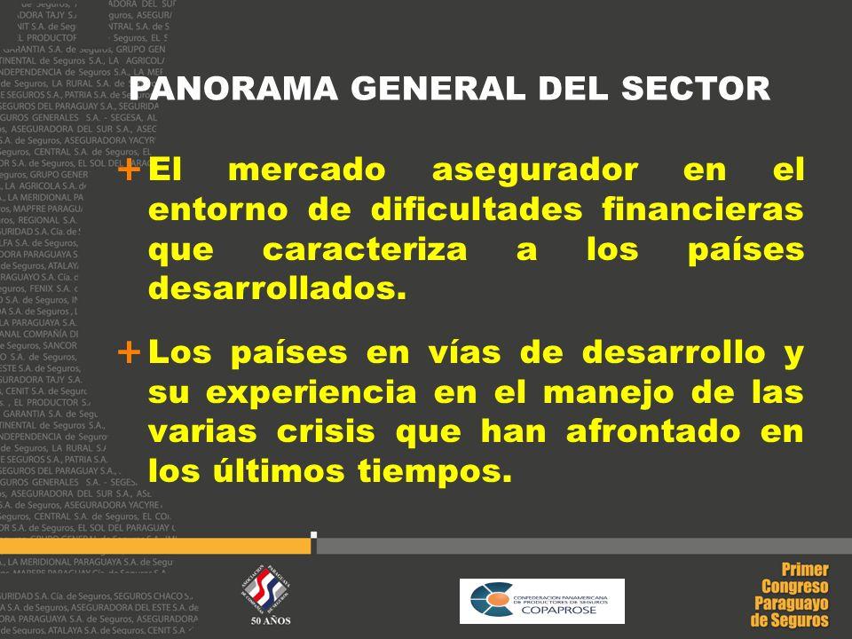 PANORAMA GENERAL DEL SECTOR El mercado asegurador en el entorno de dificultades financieras que caracteriza a los países desarrollados. Los países en