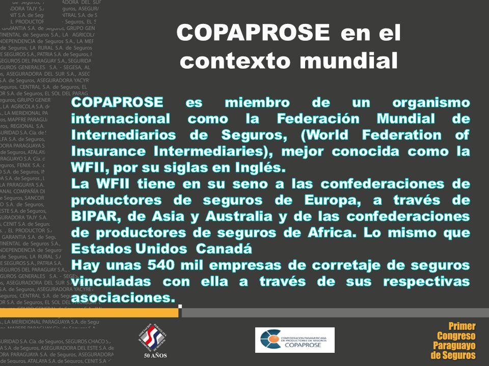 COPAPROSE en el contexto mundial