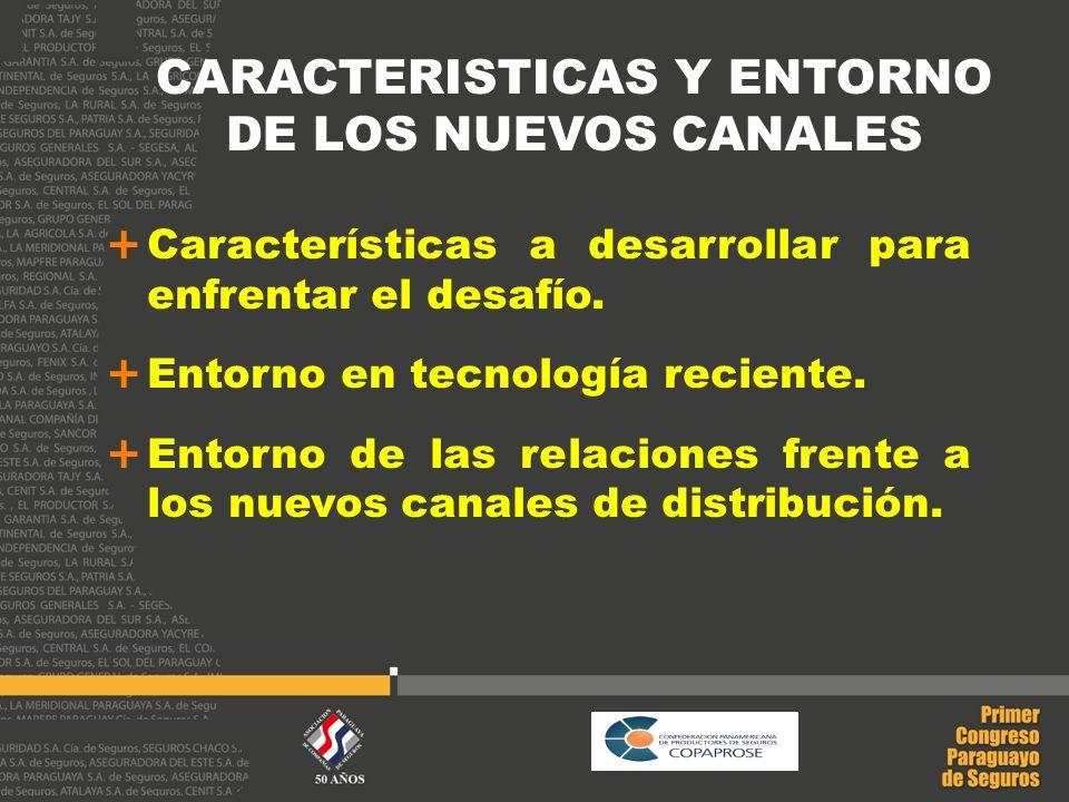 CARACTERISTICAS Y ENTORNO DE LOS NUEVOS CANALES Características a desarrollar para enfrentar el desafío. Entorno en tecnología reciente. Entorno de la