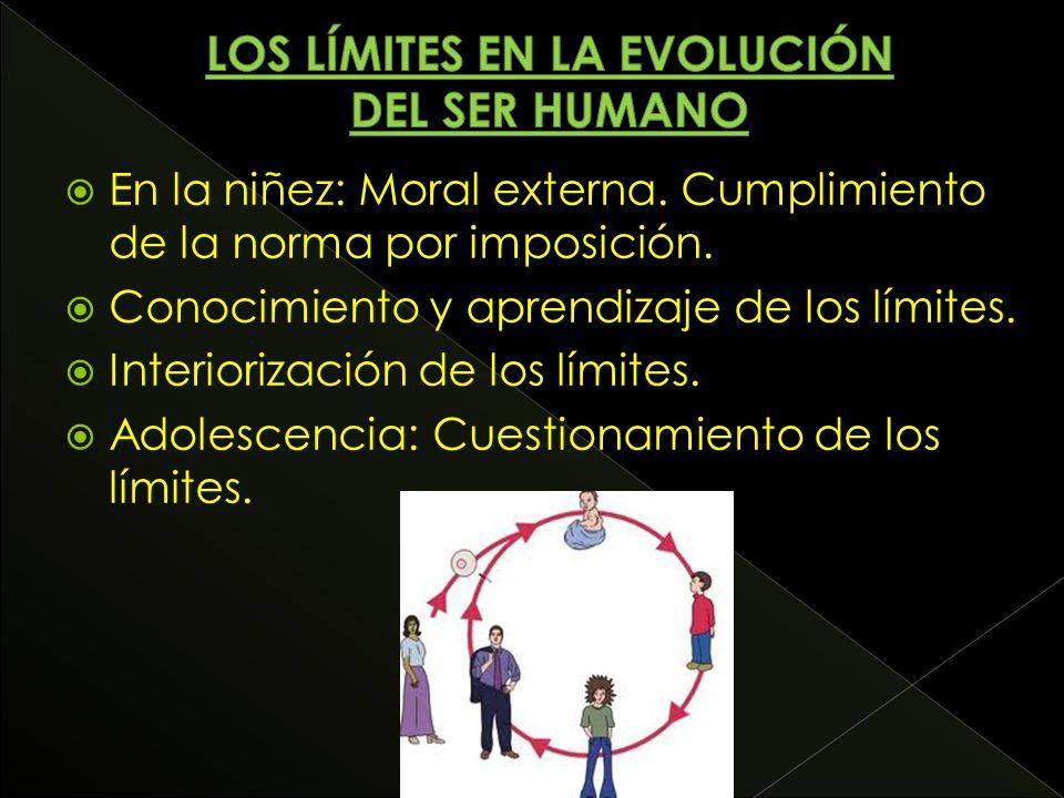 En la niñez: Moral externa. Cumplimiento de la norma por imposición.