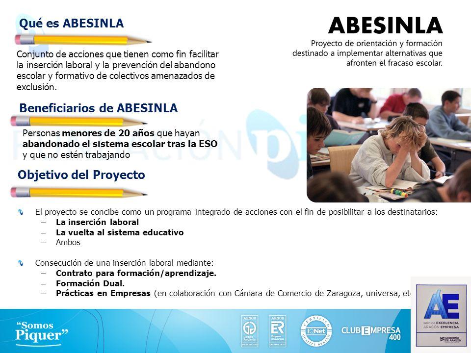 Conjunto de acciones que tienen como fin facilitar la inserción laboral y la prevención del abandono escolar y formativo de colectivos amenazados de e