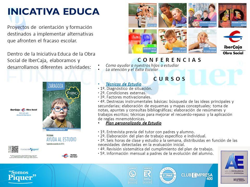 INICATIVA EDUCA Proyectos de orientación y formación destinados a implementar alternativas que afronten el fracaso escolar. Dentro de la Iniciativa Ed