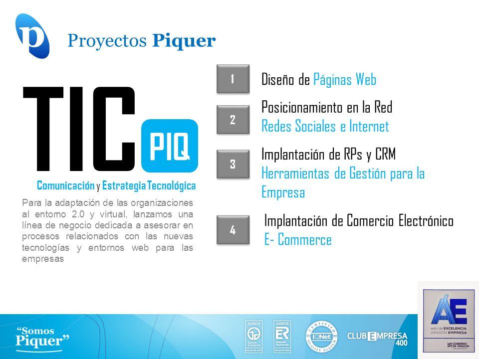 TIC PIQ Comunicación y Estrategia Tecnológica Para la adaptación de las organizaciones al entorno 2.0 y virtual, lanzamos una línea de negocio dedicad