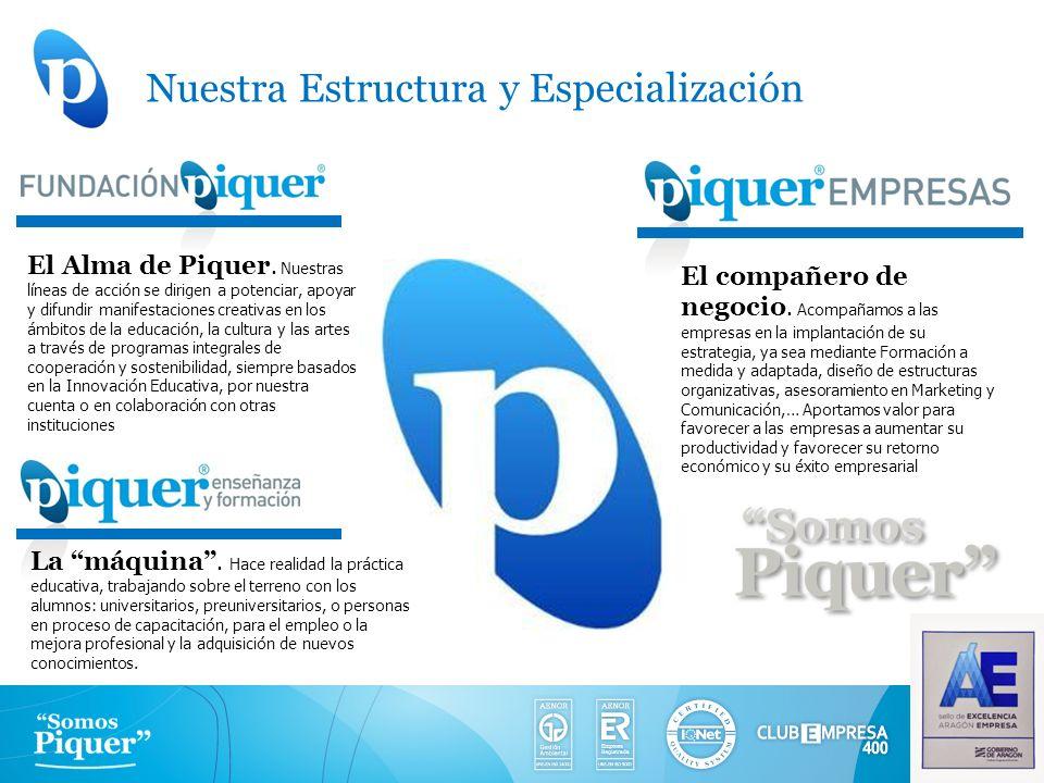 Nuestra Estructura y Especialización El Alma de Piquer. Nuestras líneas de acción se dirigen a potenciar, apoyar y difundir manifestaciones creativas