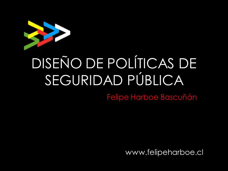 DISEÑO DE POLÍTICAS DE SEGURIDAD PÚBLICA www.felipeharboe.cl Felipe Harboe Bascuñán