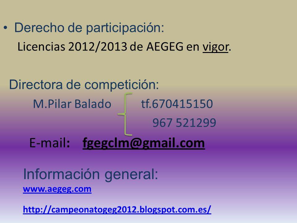 Domingo, 02.12.2012 Competición Final 09.00 – 10.00: Reunión de Jueces.