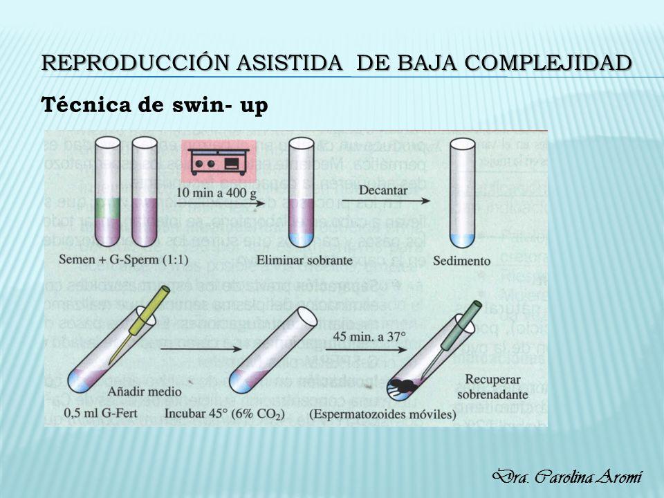 REPRODUCCIÓN ASISTIDA DE BAJA COMPLEJIDAD Técnica de swin- up Dra. Carolina Aromí