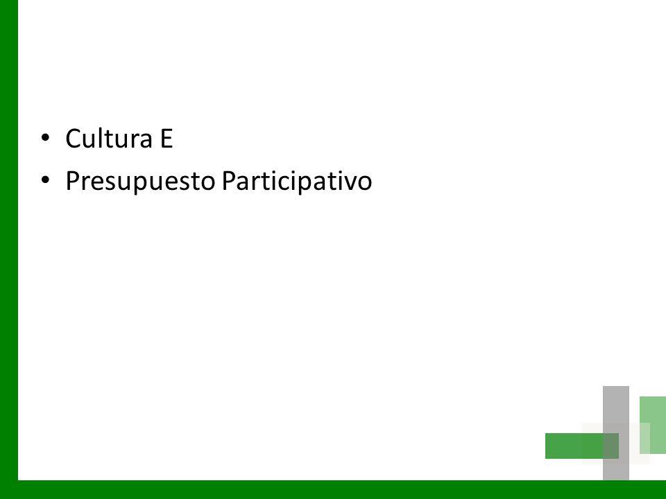 Cultura E Presupuesto Participativo