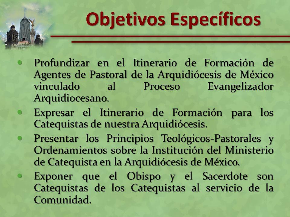 Profundizar en el Itinerario de Formación de Agentes de Pastoral de la Arquidiócesis de México vinculado al Proceso Evangelizador Arquidiocesano. Prof