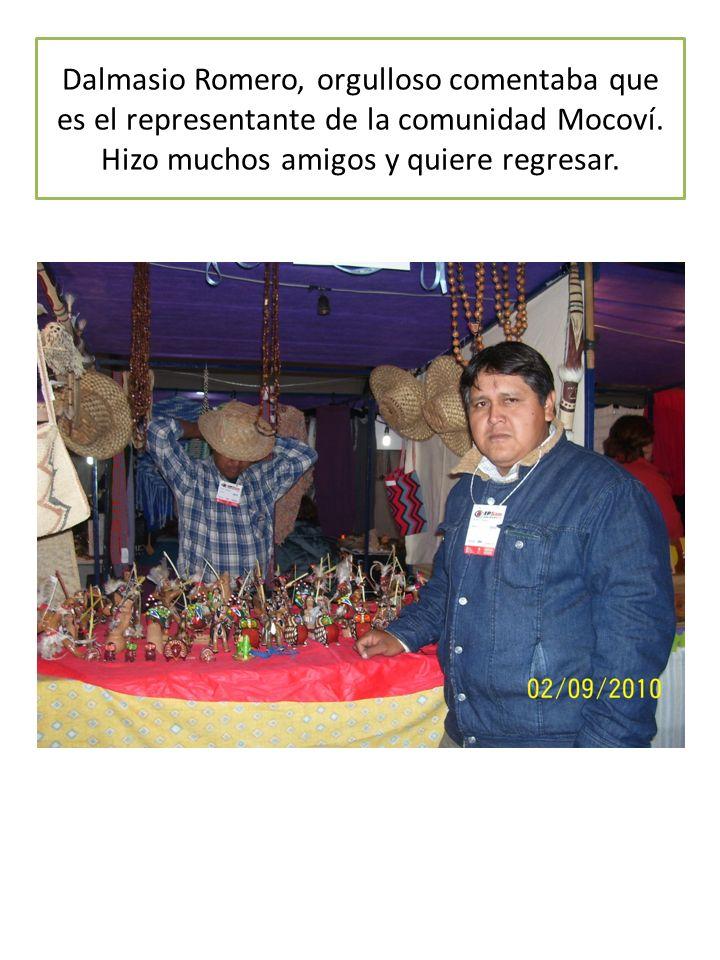 Dalmasio Romero, orgulloso comentaba que es el representante de la comunidad Mocoví.