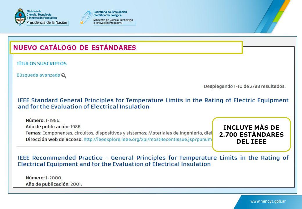 NUEVO CATÁLOGO DE ESTÁNDARES INCLUYE MÁS DE 2.700 ESTÁNDARES DEL IEEE