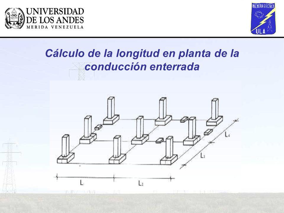Cálculo de la longitud en planta de la conducción enterrada