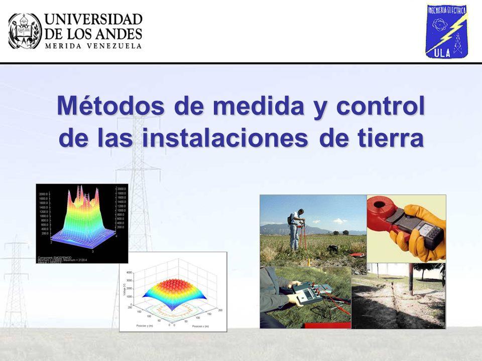 Métodos de medida y control de las instalaciones de tierra