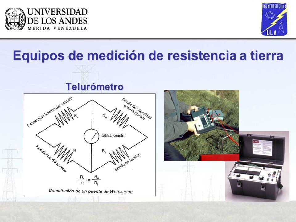 Telurómetro Equipos de medición de resistencia a tierra