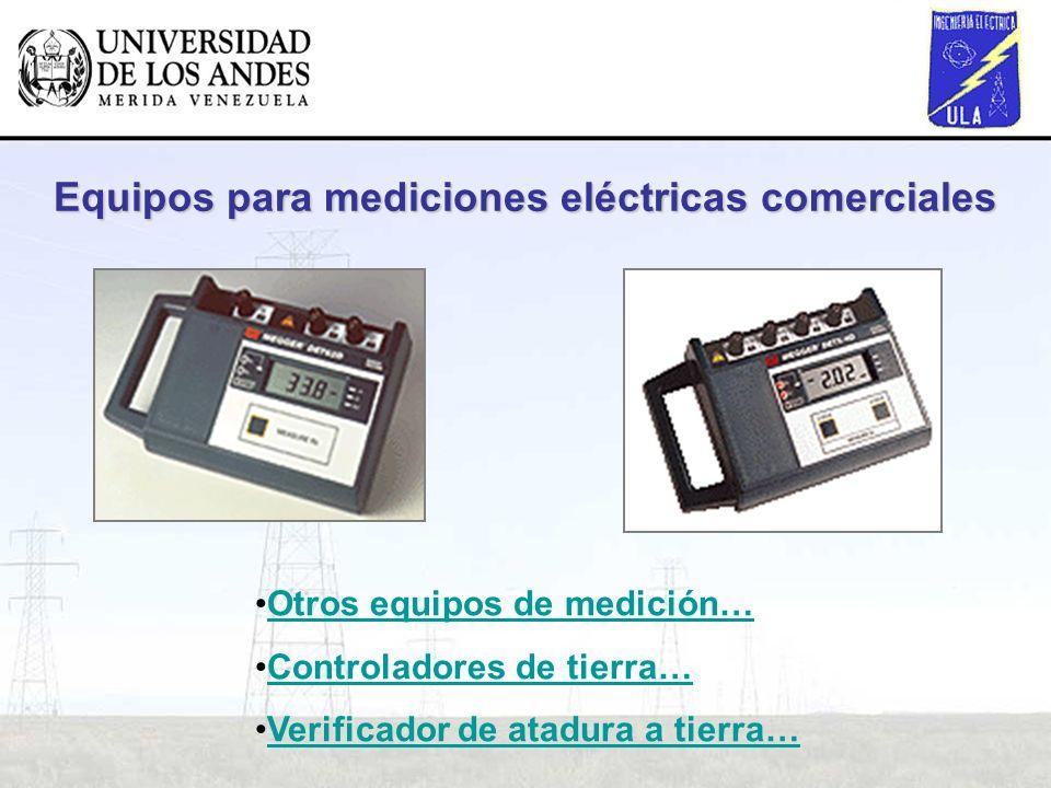 Equipos para mediciones eléctricas comerciales Otros equipos de medición… Controladores de tierra… Verificador de atadura a tierra…