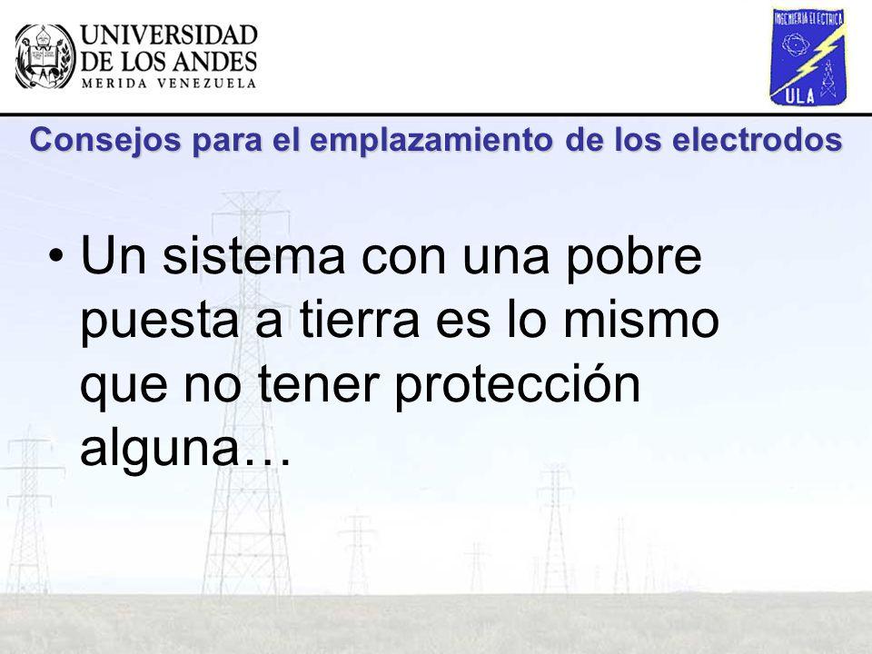 Consejos para el emplazamiento de los electrodos Un sistema con una pobre puesta a tierra es lo mismo que no tener protección alguna…