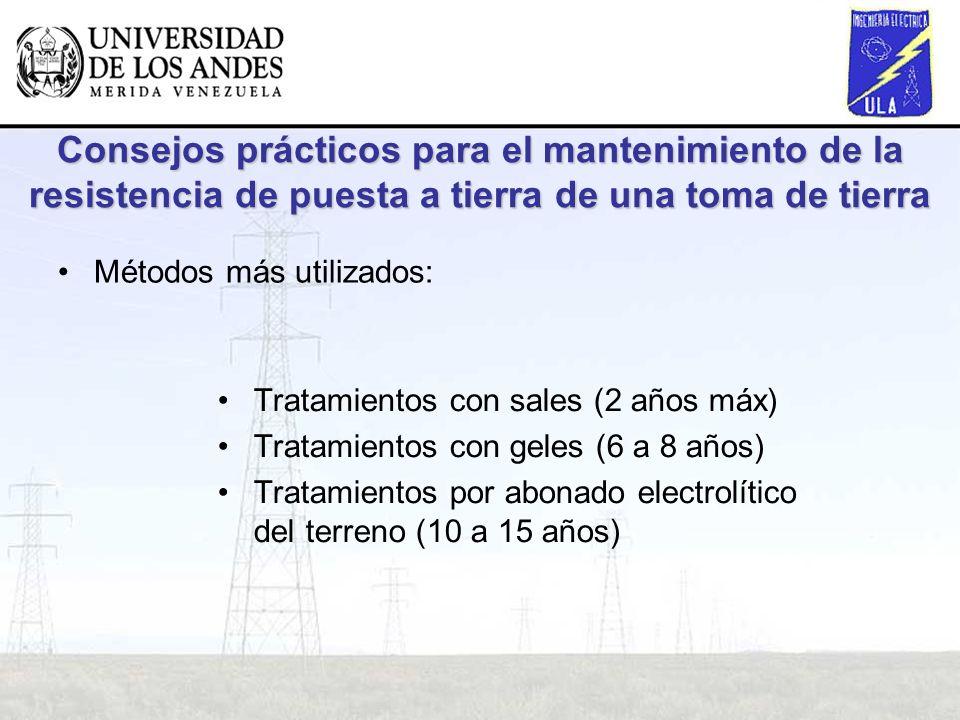 Consejos prácticos para el mantenimiento de la resistencia de puesta a tierra de una toma de tierra Métodos más utilizados: Tratamientos con sales (2