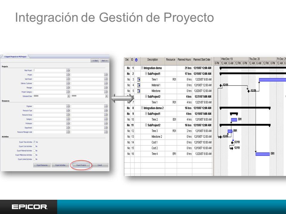Integración de Gestión de Proyecto