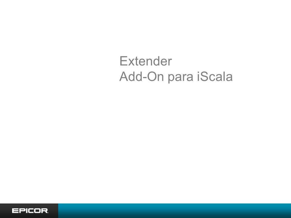 Extender Add-On para iScala