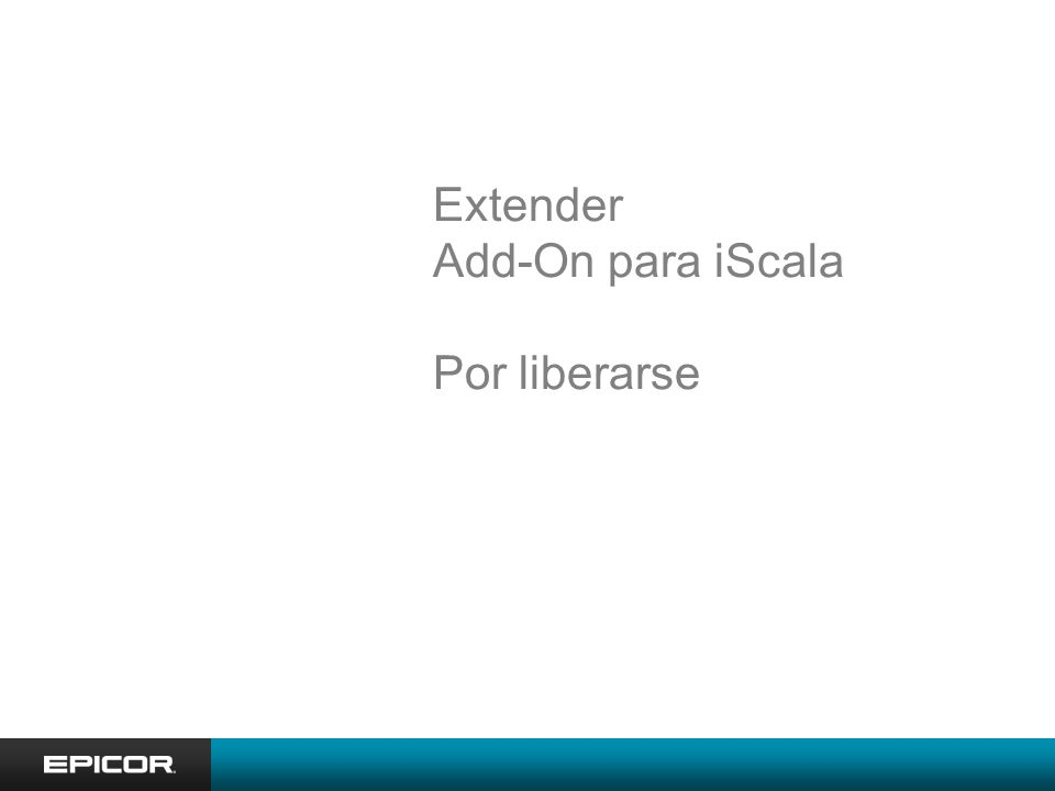 Extender Add-On para iScala Por liberarse