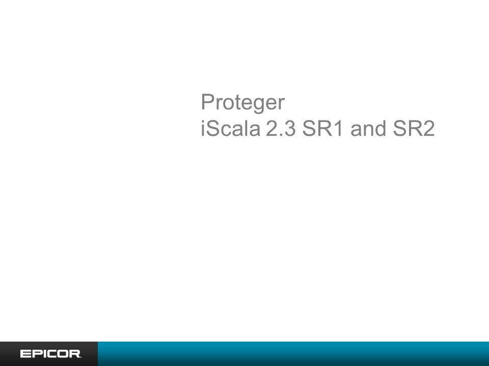 Soluciones de valor agregado para iScala Epicor Portal Service Connect Forecast Pro iScala Query Designer iScala Store front