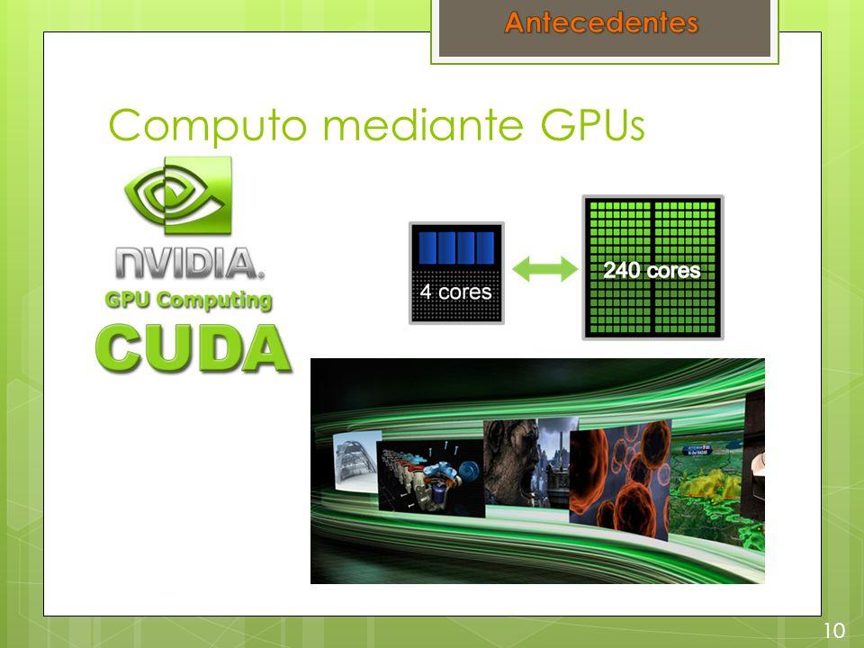 Computo mediante GPUs 10