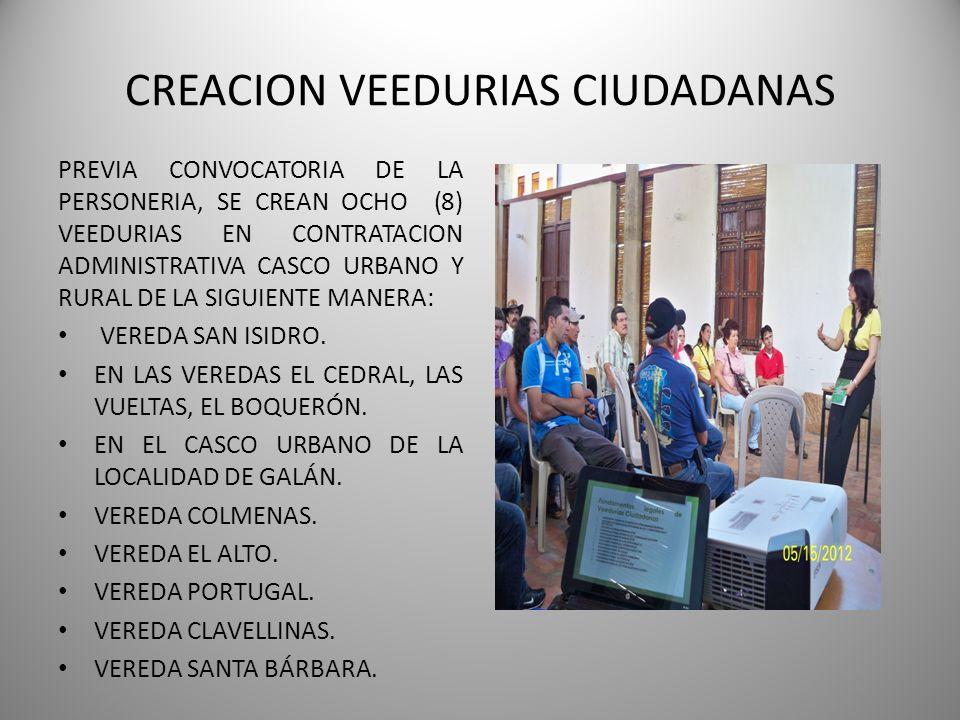 I INFORME SEMESTRAL PERSONERIA MUNICIPAL GALAN 2012 – 2015 DRA.