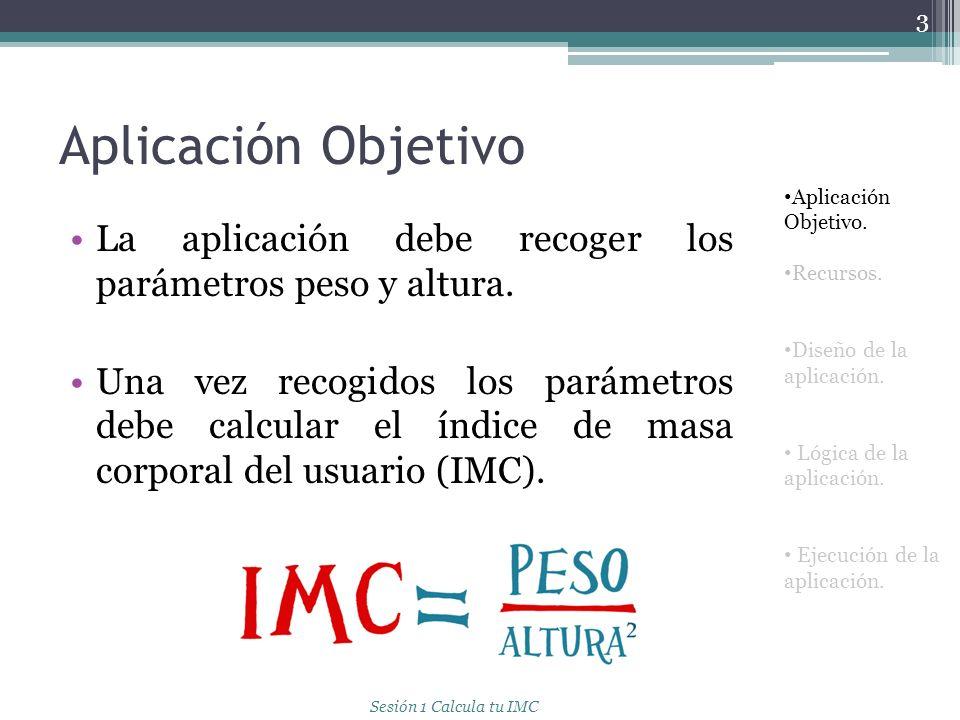 Aplicación Objetivo La aplicación debe tener la siguiente apariencia: 4 Aplicación Objetivo.