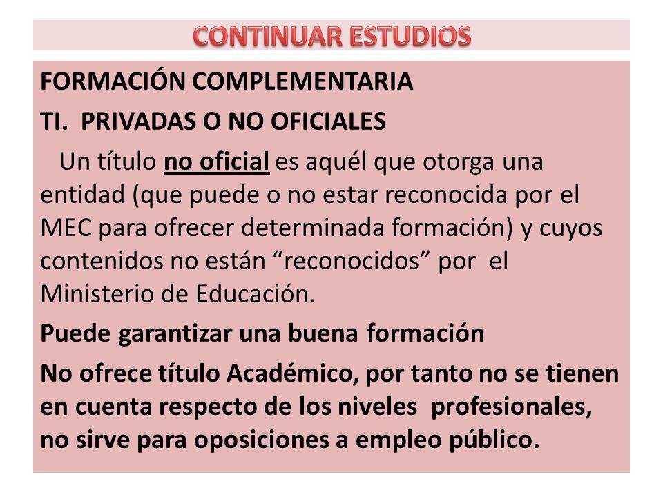 FORMACIÓN COMPLEMENTARIA TI.