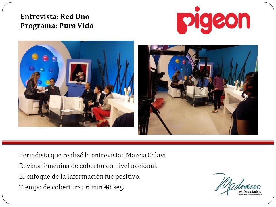 Periodista que realizó la entrevista: Marcia Calavi Revista femenina de cobertura a nivel nacional. El enfoque de la información fue positivo. Tiempo