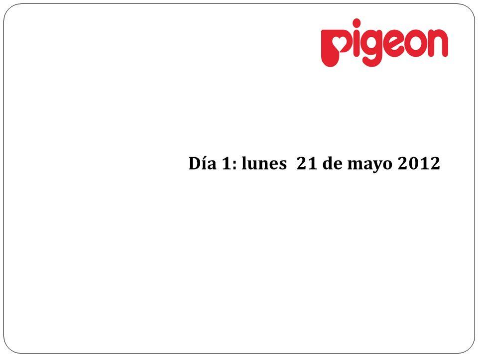 Día 1: lunes 21 de mayo 2012