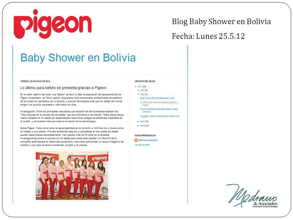 Blog Baby Shower en Bolivia Fecha: Lunes 25.5.12
