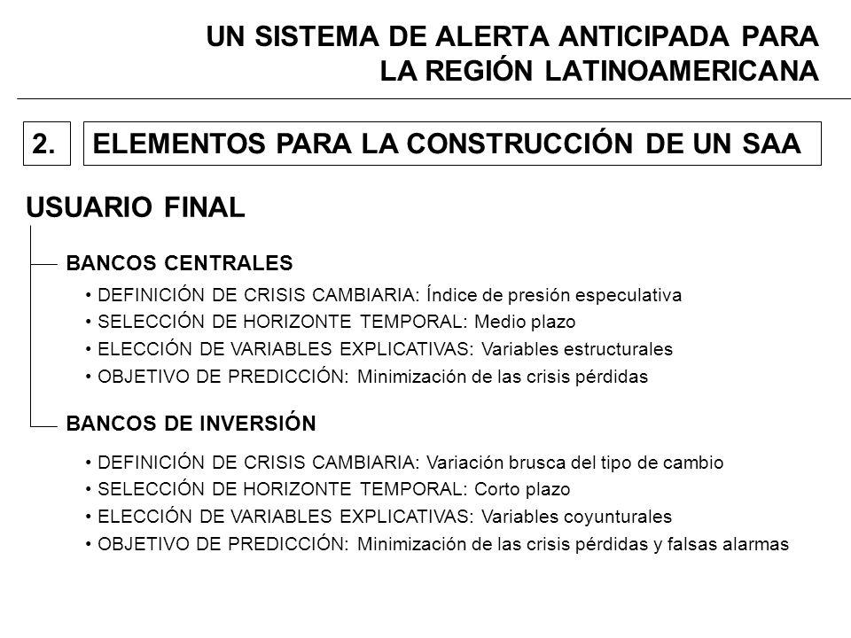 UN SISTEMA DE ALERTA ANTICIPADA PARA LA REGIÓN LATINOAMERICANA USUARIO FINAL ELEMENTOS PARA LA CONSTRUCCIÓN DE UN SAA2.