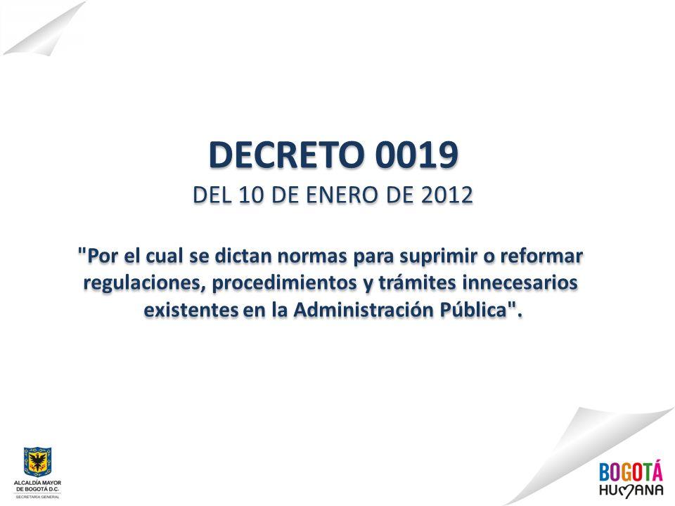 DECRETO 0019 DEL 10 DE ENERO DE 2012