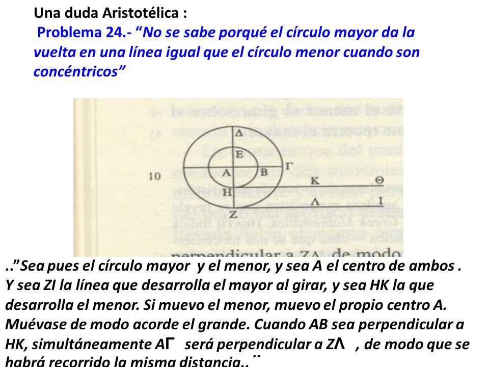 La Mecánica de Aristóteles ejerció una gran influencia en muchos pensadores, incluido Galileo, quien analizó el problema de las ruedas en su obra clásica sobre las dos nuevas ciencias.