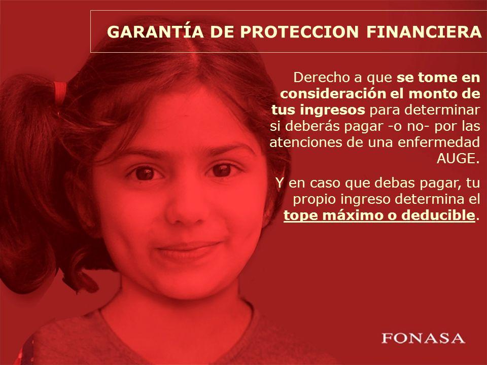 ¿CÓMO FUNCIONA LA GARANTÍA DE PROTECCIÓN FINANCIERA EN FONASA.