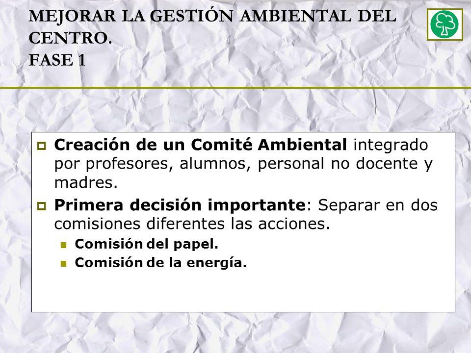 MEJORAR LA GESTIÓN AMBIENTAL DEL CENTRO.