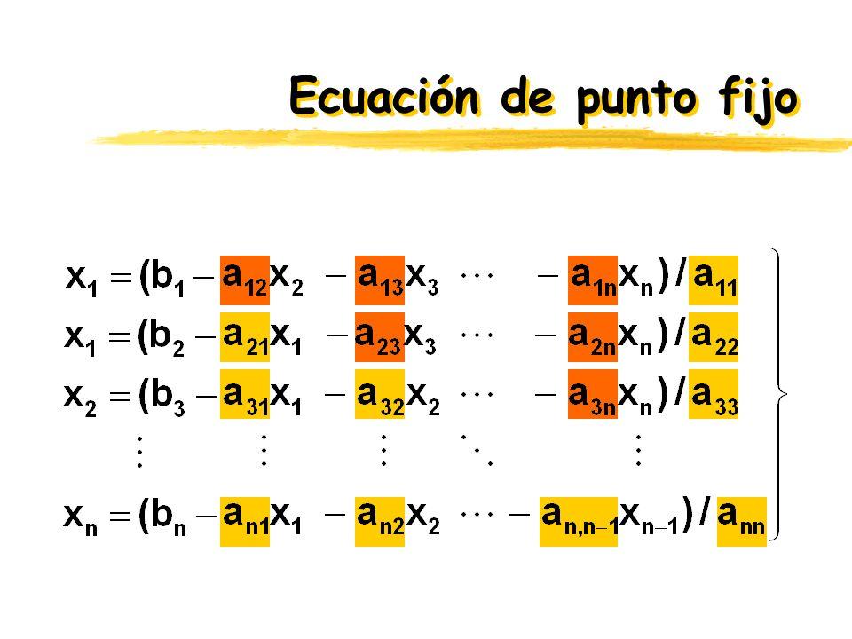 Ecuación de punto fijo