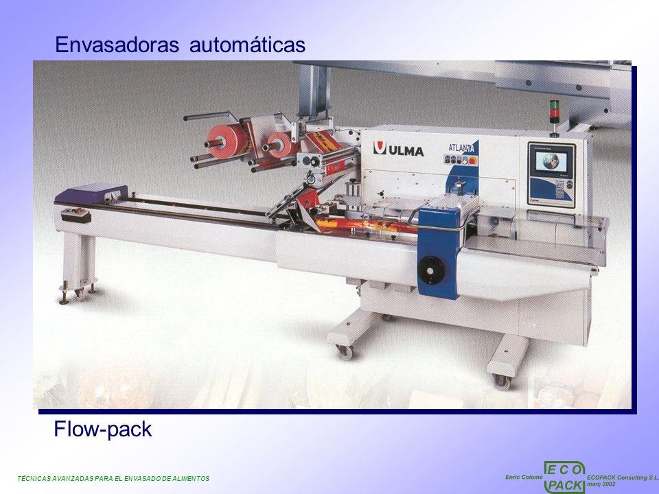 TÉCNICAS AVANZADAS PARA EL ENVASADO DE ALIMENTOS Envasadoras automáticas Flow-pack