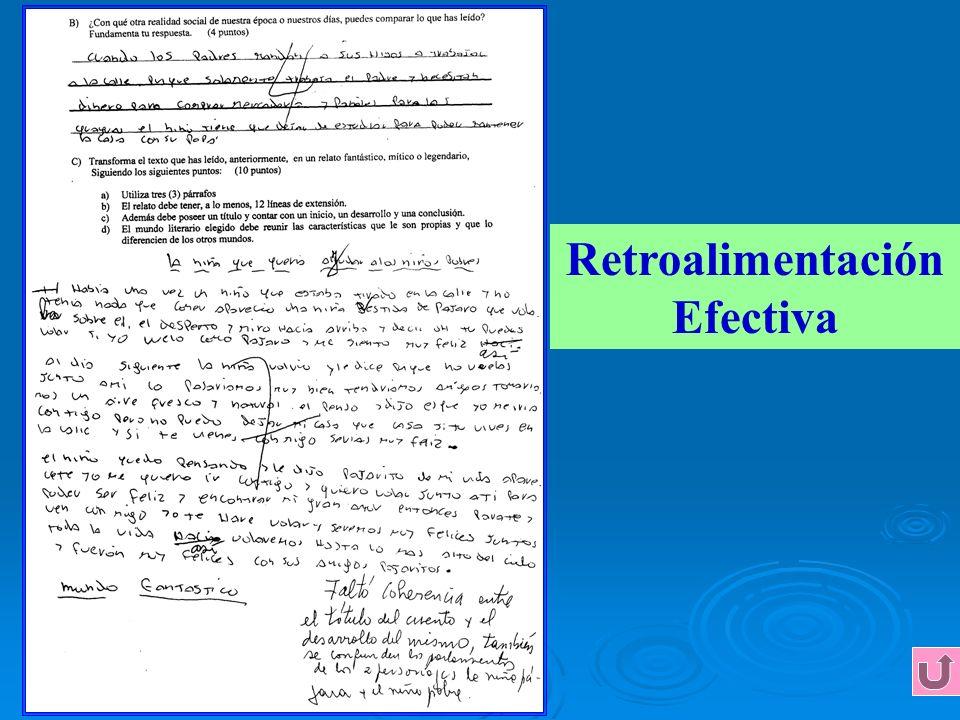 Retroalimentación Efectiva