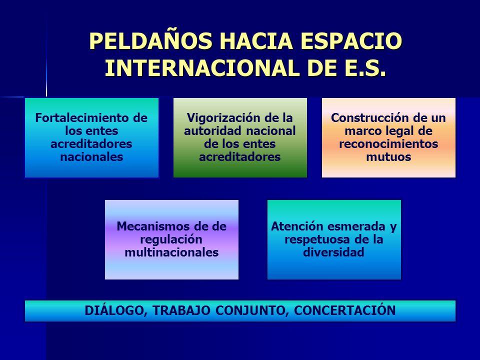 PELDAÑOS HACIA ESPACIO INTERNACIONAL DE E.S.