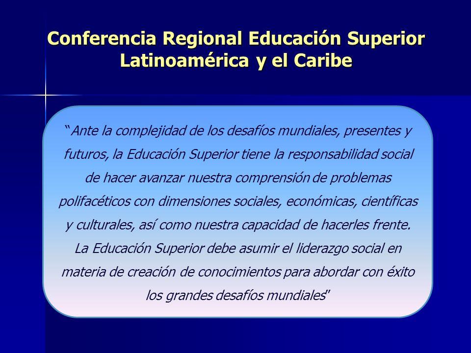 Conferencia Regional Educación Superior Latinoamérica y el Caribe.