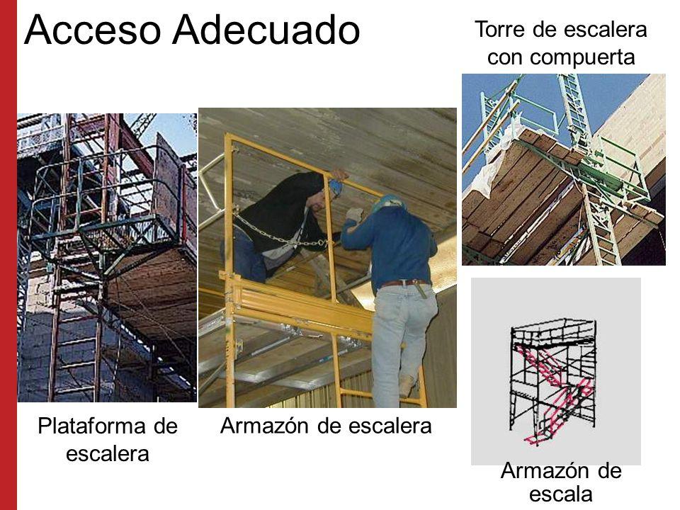 Acceso No acceda por las diagonales El peldaño inferior no puede tener más de 24 pulgadas de altura Deberá usar una escalera o armazones diseñados para usarse como escaleras