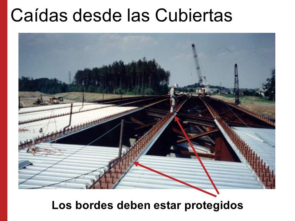 Protección contra Caídas en Puentes Los bordes de los puentes deben estar protegidos Al trabajar sobre agua, deben usarse dispositivos de flotación