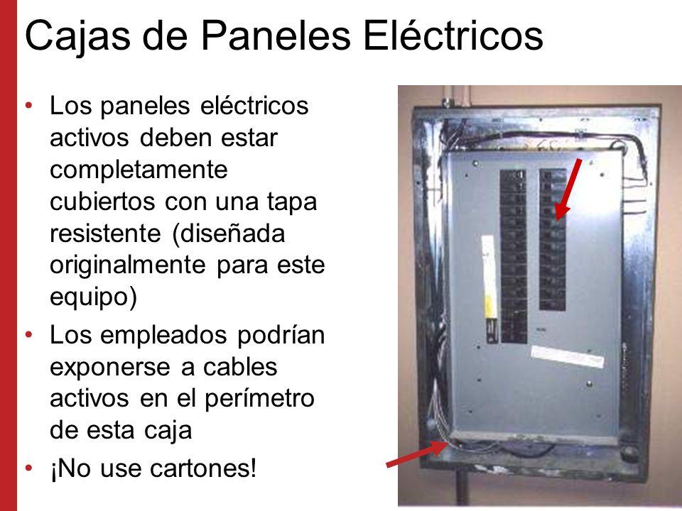 Componentes Eléctricos El alambrado como el que aparece en este ejemplo debe protegerse en cajas cerradas Existe la posibilidad de que ocurra una descarga eléctrica debido a tuercas sueltas en los alambres o conductores expuestos