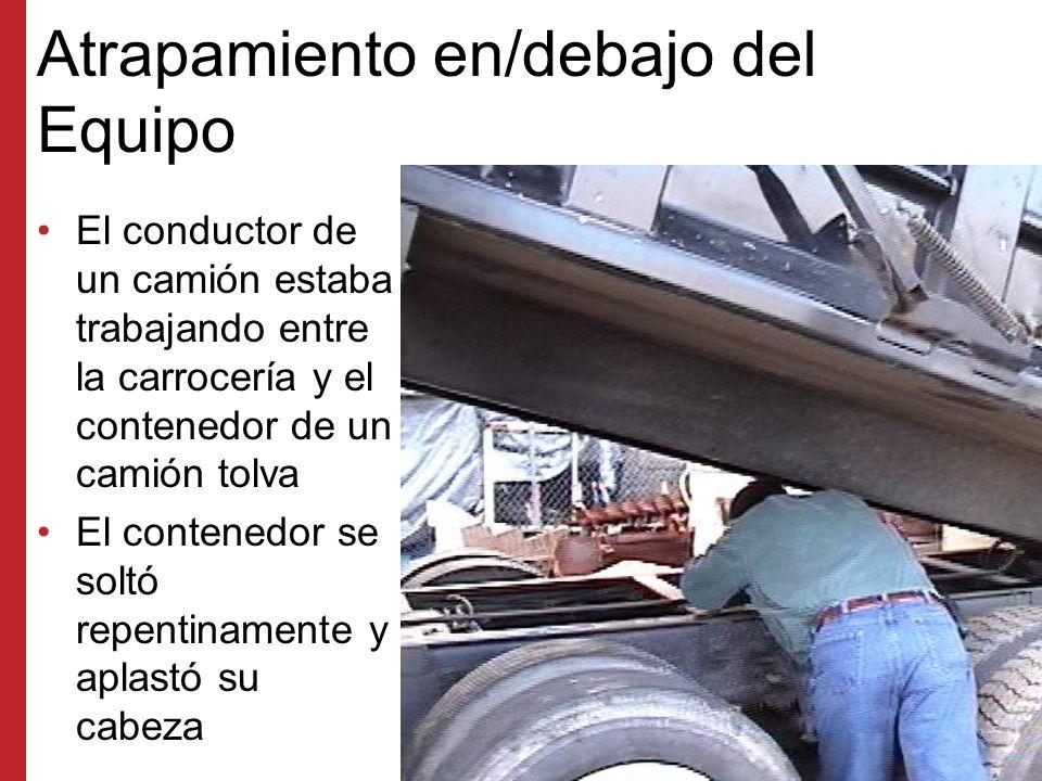 Posición Incorrecta del Trabajador El conductor no puede ver por el espejo a este trabajador