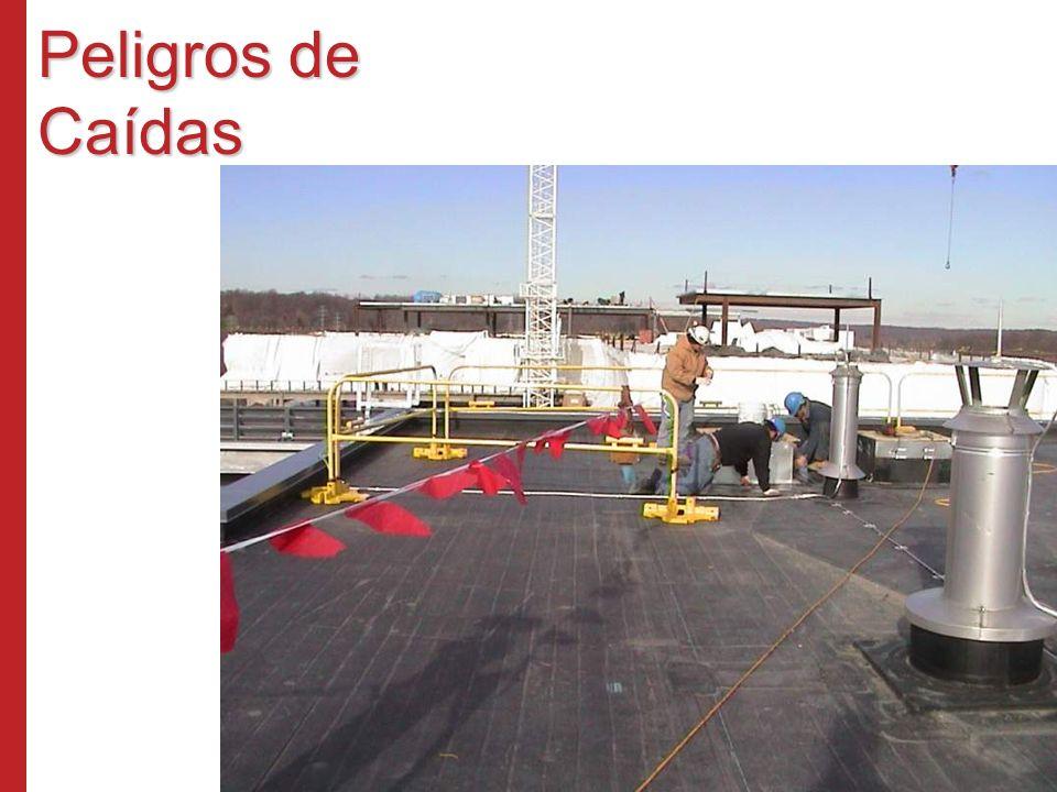 Líneas de Advertencia Externas Parapeto de al menos 39 pulgadas Sistema de fijación contra caídas Supervisores de seguridad